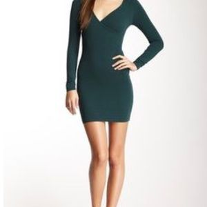 American Apparel body con dress in navy